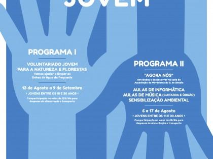 programas de Voluntariado Jovem na União das Freguesias de Bacelo e Senhora da Saúde com o apoio do IPDJ