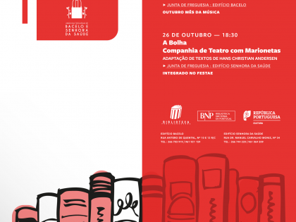 Programa no mês de Outubro no Pólo de Leitura Pública