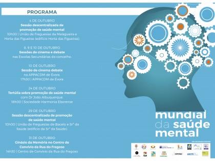 Comemorações do Dia Mundial da Saúde Mental 2018