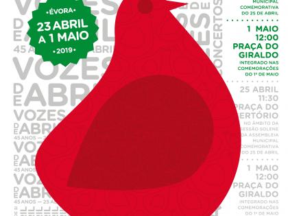 A 4.ª edição das Vozes de Abril: Mini Concertos Perto de Si vai encher Évora de música entre os dias 23 de abril e 1 de maio.