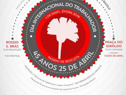 Passeio de Bicicleta Comemorativo do 1º de Maio – 45 Anos do 25 de Abril