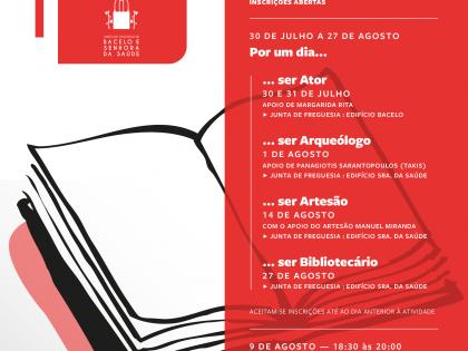 Programação de Julho e Agosto do Polo de Leitura da Biblioteca da União das Freguesias Bacelo e Senhora da Saúde
