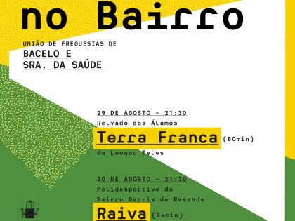Cinema Português ao ar livre no Bairro em Agosto
