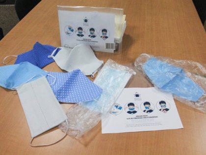 Distribuição de máscaras na União das Freguesias de Bacelo e Senhora da Saúde